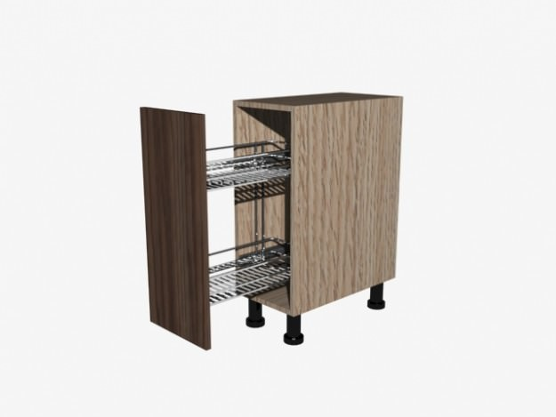 Kitchen Cabinet 3D Model Game-ready .max .obj .3ds .fbx .dxf .dwg ...