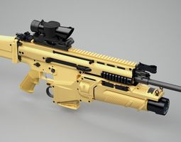 SCAR-H assault rifle 3D Model