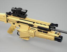 SCAR-H assault rifle 3D Model