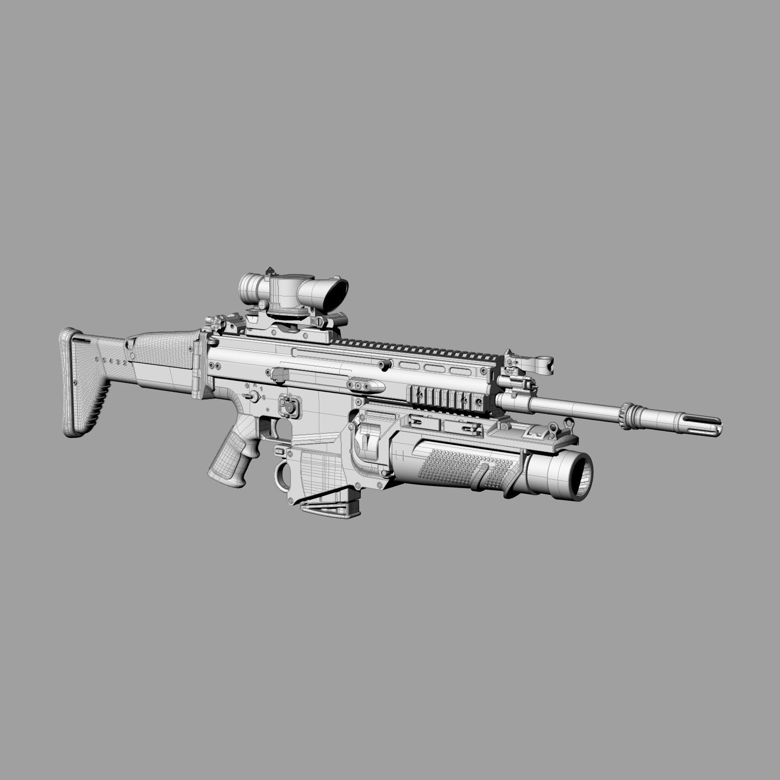 Scar H Assault Rifle 2 on 3d animal iphone 4 cases