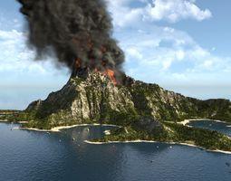 Volcano island in Blender 3D