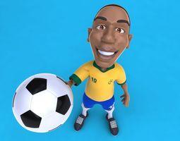 Fun football soccer player 3D