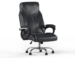 Leather Executive Office Chair lux 3D model