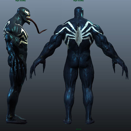 Venom 3d Model Obj Ma Mb