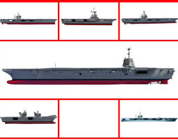 3D model Navy Ships and Aircraft Carriers