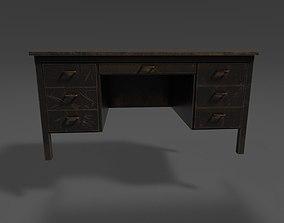 3D asset Old Metal Desk