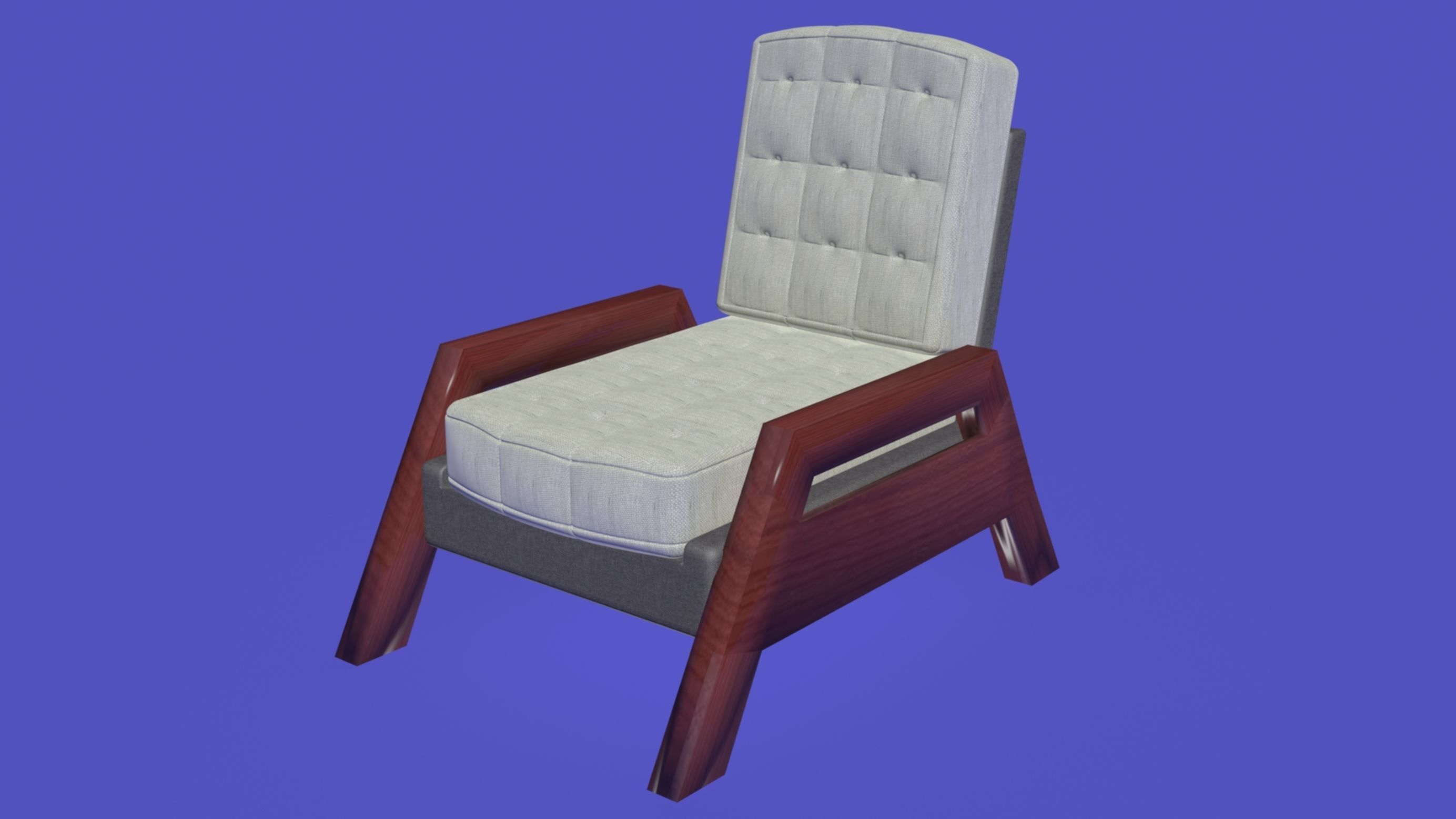 nordic scandinavian armchair 3d model
