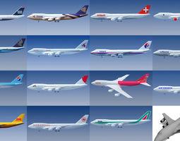 15 Airline Textures 3D Models