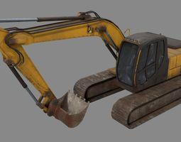 Excavator 3D model realtime