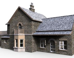 building Railway station 2 3D