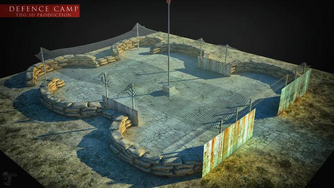 defense camp 3d model max obj mtl 3ds fbx stl X 1