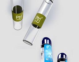 glass 3D model Bottles