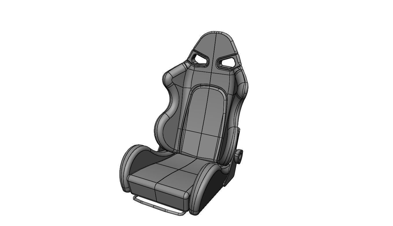 bride style sparco race car seat free 3d model sldprt sldasm slddrw. Black Bedroom Furniture Sets. Home Design Ideas