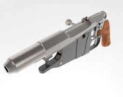 3D asset Mosin Nagant Obrez pistol replica