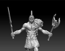 Avatar of War Figurine 3D print model