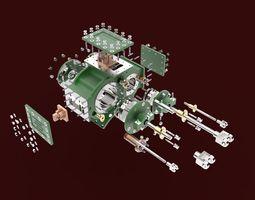 3D print model Garret Steam Stationery Engine
