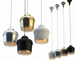 pendant lamp crystal light 3d model