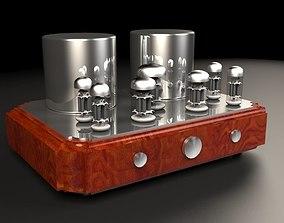 3D model Vacuum tube amplifier 03