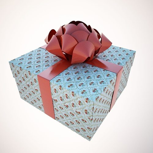 a holiday package-box 3d model max obj mtl 3ds fbx 1
