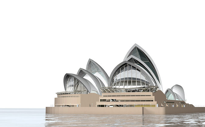 sydney opera house 3d model 3ds c4d dae skp 1