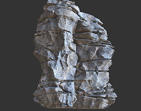 3D model Low poly Realistic Rocky Sharp Cliff Modular s5
