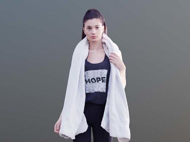 Myriam 10016 - Sporty girl with towel