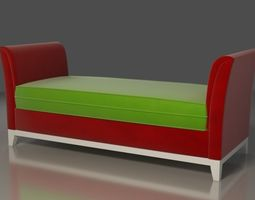 3D model Mondrian Sofa Red green white