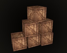 3D model realtime Wooden Box