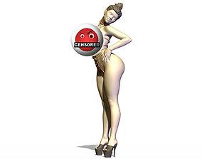 Sexy girl human 3D print model