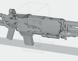 DESTINY 2 CERBERUS AUTO RIFLE 3D print model