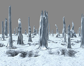 Planet - Ice Cliff 04 3D model