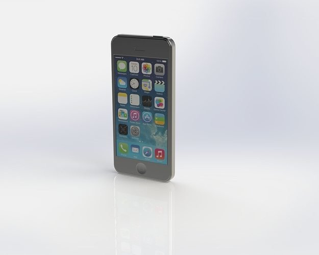 iphone 5s 3d model sldprt sldasm slddrw 1