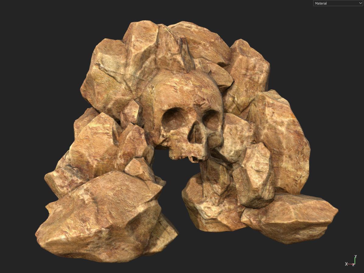 Free Yeallow Rock Skull Gate