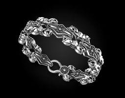 3D print model Bracelet for a real biker 2