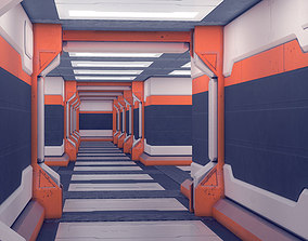 Spaceship Sci-fi interior kitbash set 03 3D asset