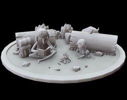 Adventure Time - Simon and Marceline 3D printable model