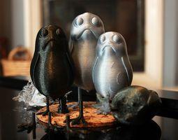 A little standing Porg 3D print model