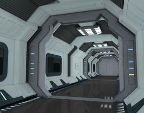 SciFi Spaceship Corridor 7 3D model