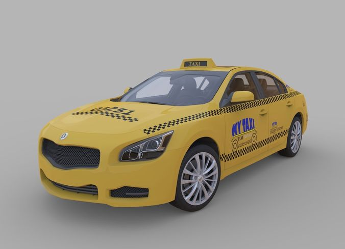 Generic taxi with interior3D model