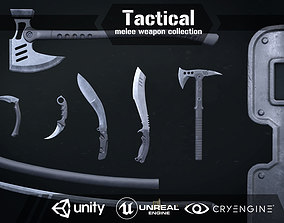 Tactical melee wepon collection 3D model VR / AR ready