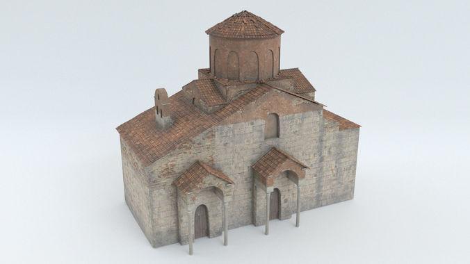 old church  3d model obj mtl fbx blend 1