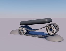 Tank chain 3D model