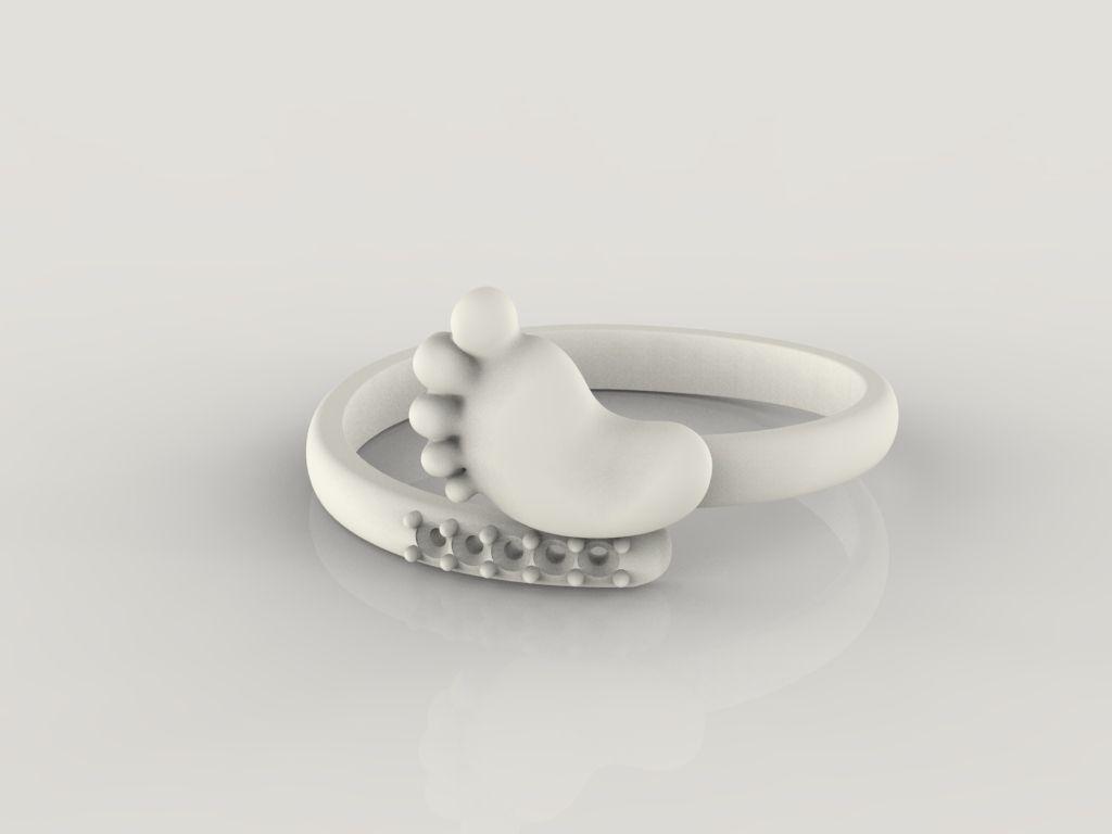 Baby Foot Ring Stl 7 Sizes 3d Model 3d Printable Stl