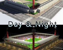 Stadium Level 5 Day-Night 3D Model