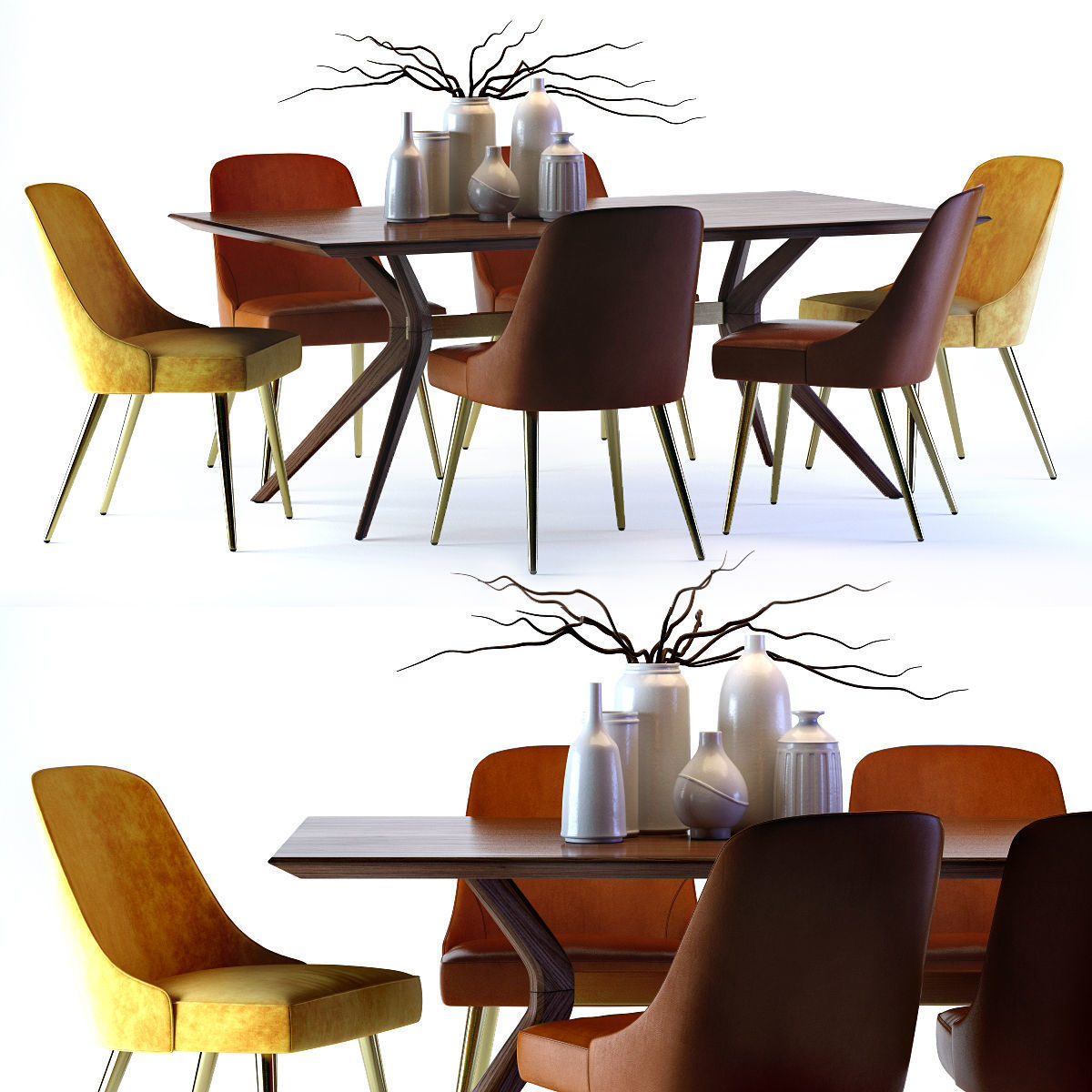 West Elm Mid Century Leather Chair And Wright Table Model