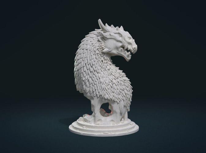dragon bust 3d model obj mtl fbx stl blend dae 1