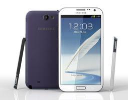 Samsung Galaxy Note II N7100 3D Model