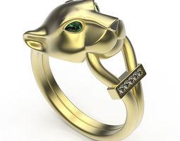 3D printable model Ring Jaguar