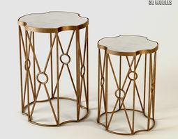 Side Table Sun Brass 3D