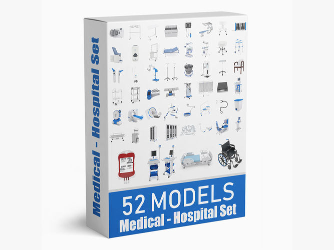 52 models medical hospital collection 3d model max obj mtl 3ds fbx c4d ma mb 1